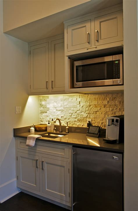 Bedroom Kitchenette by This Coffee Bar Kitchenette Sits In A Master Bedroom For