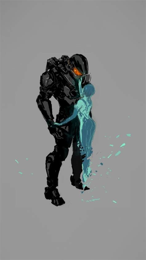 cortana halo master chief artwork wallpaper