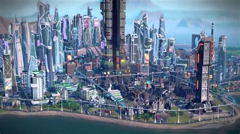 Futuristic City Hd Wallpaper Simcity Cities Of The Future Preview Youtube