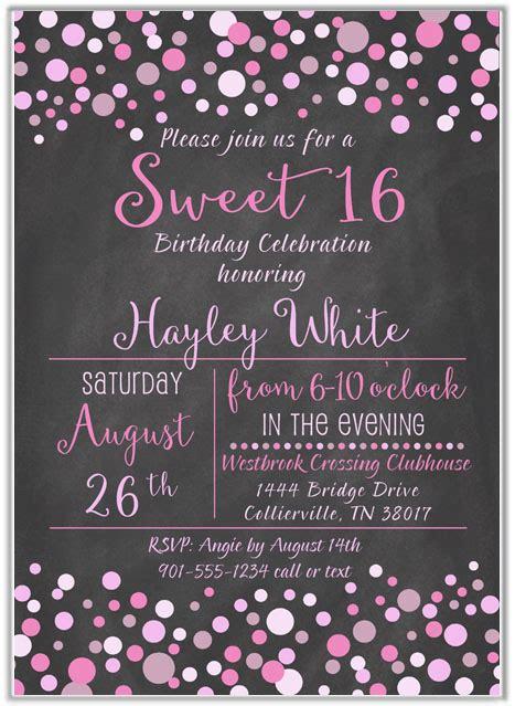 sweet  birthday party invitations