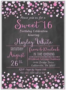 Sweet, 16, Birthday, Party, Invitations