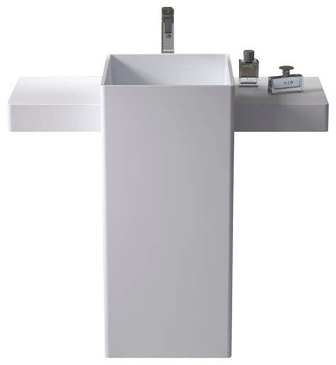 Modern Bathroom Freestanding Sinks by Adm Free Standing Solid Surface Resin Sink Modern