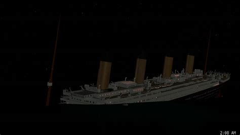 titanic sinking animation real time titanic real time sinking pt 8