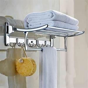 Stainless, Steel, Towel, Rack, 304, Bathroom, Shelf, Folding, Rack, Of, Bathroom, Hardware, Accessories