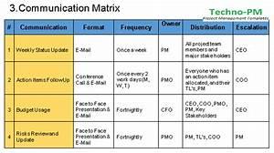 Communication Management Plan Template Free Download