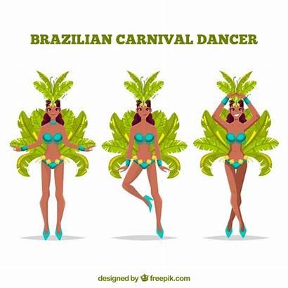 Carnival Brazilian Dancers Three Vector
