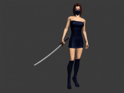 dfoin female ninja animated  model