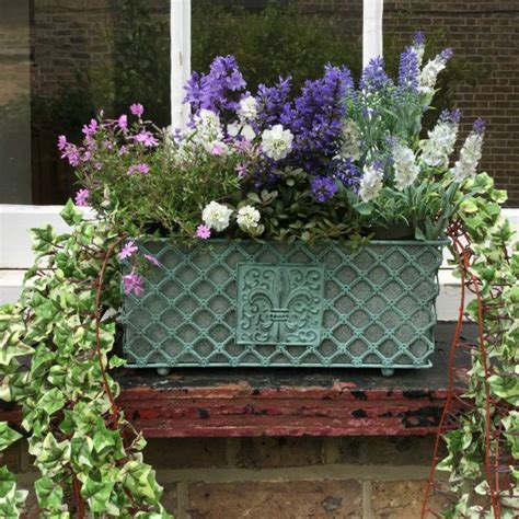 antique french vintage style metal garden planter window