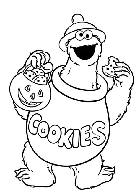 C is for Cookie Monster Coloring Pages Coloring Sky