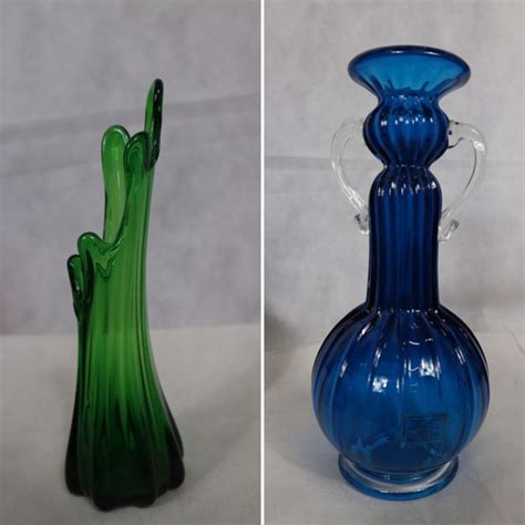 Different Vase Shapes by Murano 2 Vases With Different Shapes Catawiki