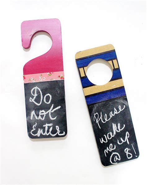 diy door hanger diy chalkboard door hanger ideas the craftables