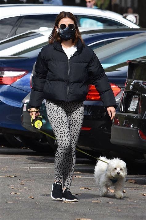 Lucy Hale Out With Her Dog Elvis In Los Feliz