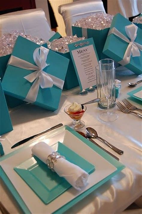 breakfast  tiffanys bridal shower luncheon tablescape
