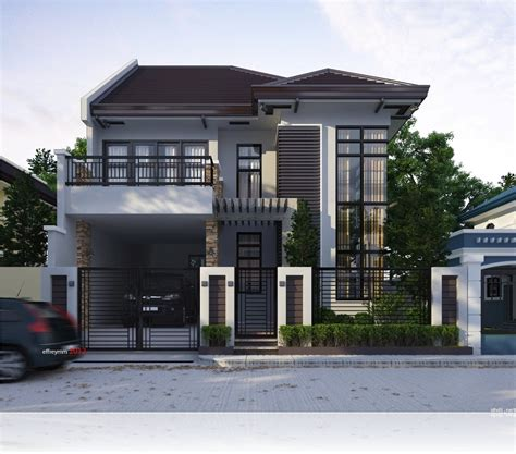modern  storey  terrace house design ideas simple home pertaining  awesome  cozy mo