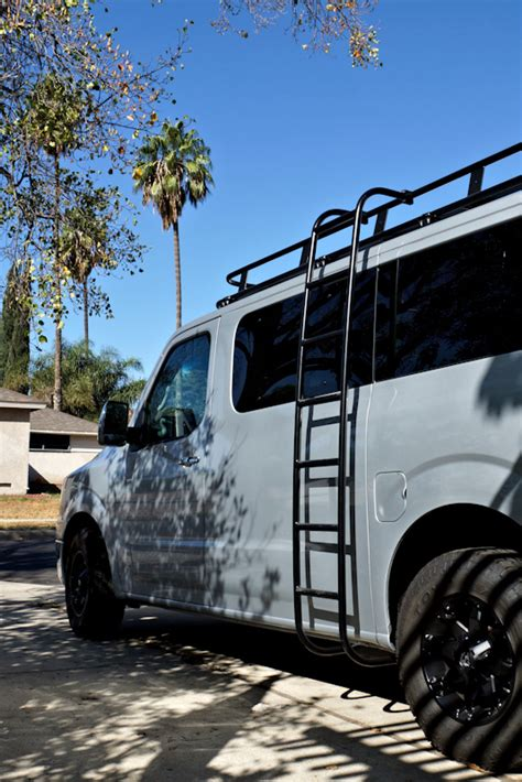 nissan nv roof racks aluminess
