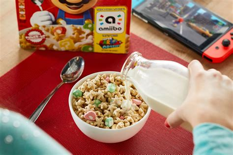 nintendo s new mario breakfast cereal is also an amiibo polygon