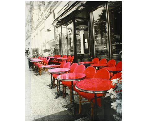 tableau toile paris vintage terrasse bistrot cafe des