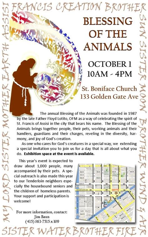 Nd Annual Franciscan Blessing Of The Animals San