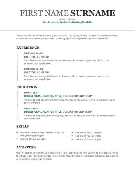 Chronological Resume Vertical Design by Chronological Cv Modern Design
