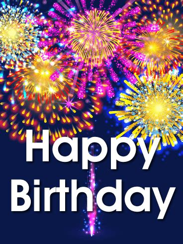 vivid birthday fireworks card birthday greeting cards