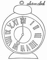 Pages Clock Coloring Alarm Wake Pocket Qisforquilter Sky Coloringsky sketch template