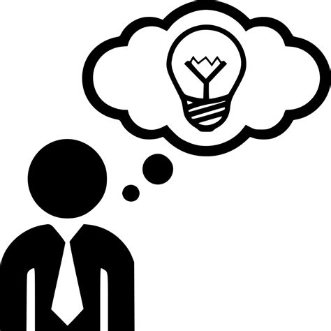 Idea Think Thinking Man Svg Png Icon Free Download