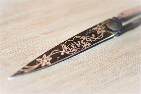 test cuisine avis sur le couteau personnalisable de deejo gentleman