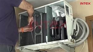 Split Ac Outdoor Unit Wet Service Process Hindi