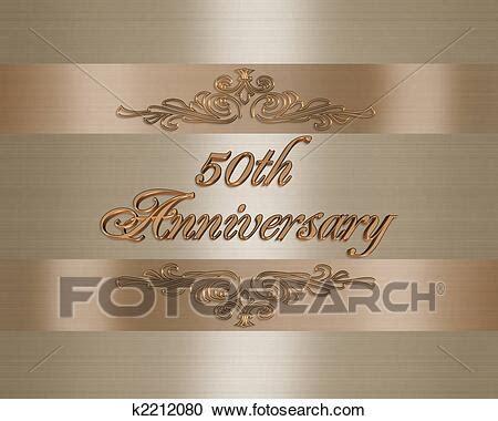 Stock Illustrations of 50th golden Wedding Anniversary