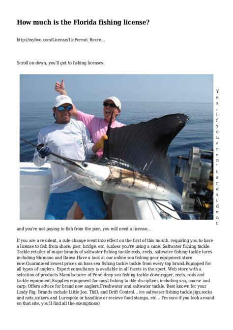 license fishing florida much slideshare myfwc