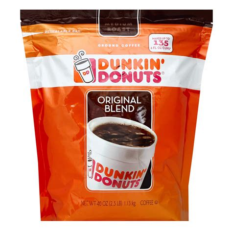 My poor doctor is a medical student on rotations and drinks it every. Dunkin' Donuts Ground Coffee with Flip Top, 40 oz. - BJs WholeSale Club