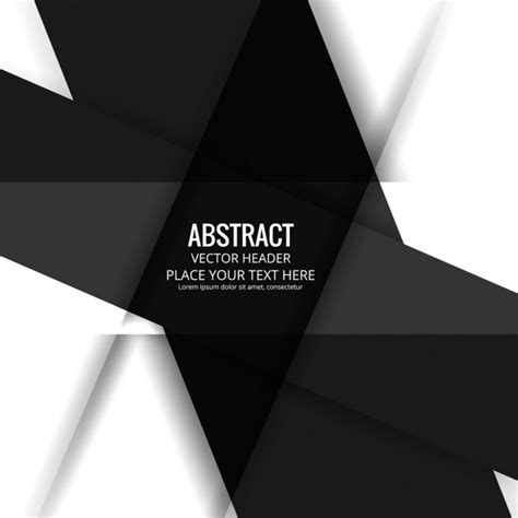Abstract Shapes Black by Abstract Background With Black And White Geometric Shapes
