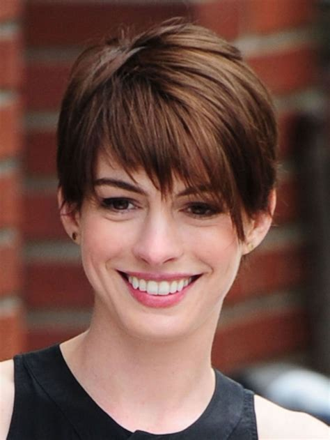 One of those is the pixie hairstyle. Image result for anne hathaway short hair   Hair ...