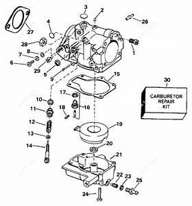 Evinrude 1996 30 - E30rlede  Carburetor 25
