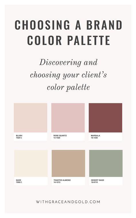With Grace & Goldbrand Design Choosing A Color Palette