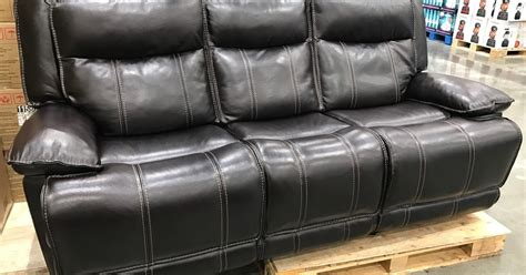 leather reclining loveseat costco leather reclining sofa costco weekender