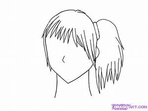 How To Draw Bangs with a Ponytail, Step by Step, Anime ...