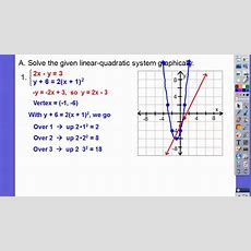 Solving Linearquadratic Systems  Module 123 (part 1