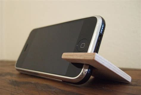 wooden iphone stand handmade wooden stand for all models of iphone gadgetsin