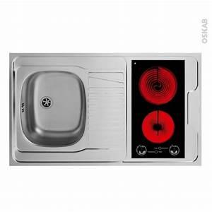 Cadre Inox Pour Plaque Vitroceramique : bloc vier pour kitchenette plaque de cuisson ~ Premium-room.com Idées de Décoration