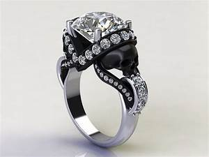 sapphire studios direct 39aphrodite39 170ct certified With diamond skull wedding rings