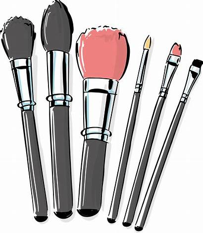 Brush Makeup Clipart Brushes Clip Cosmetic Transparent