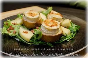 Salat Mit Ziegenkäse Und Honig : gemischter salat mit warmen ziegenk se und die ~ Lizthompson.info Haus und Dekorationen