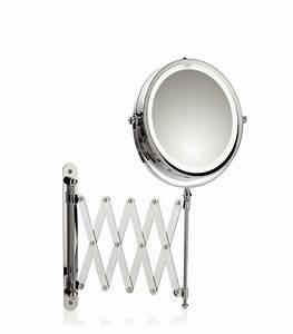 Miroir Lumineux Maquillage : miroir grossissant mural lumineux led x5 rond val rie ~ Teatrodelosmanantiales.com Idées de Décoration