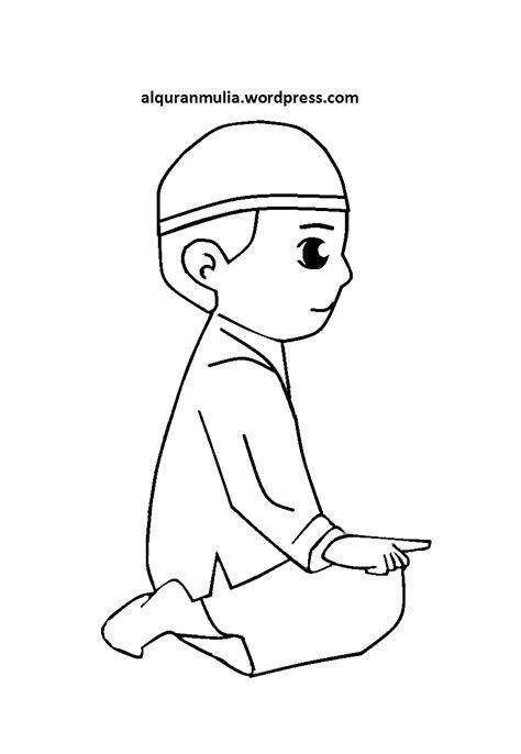 30 trend terbaru sketsa gambar anak muslimah