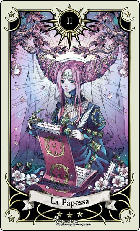 tarot card 2 the high priestess by rann poisoncage on deviantart