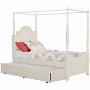 City Furniture: Charlotte Ivory Canopy Trundle Bed
