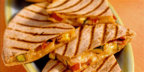 grilled vegetable quesadillas recipe sargento shredded