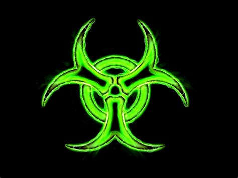 green biohazard wallpaper wallpapersafari