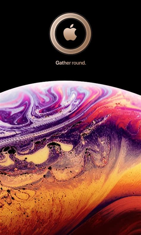 Iphone Xs Wallpaper 4k by Wallpaper Iphone Xs Ios 12 Stock Apple 4k Space 15709